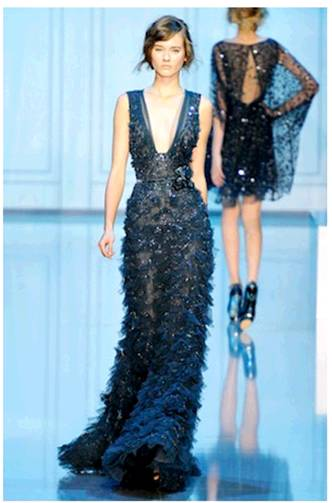 elie-saab-fall-2011-beaded-feather-gown